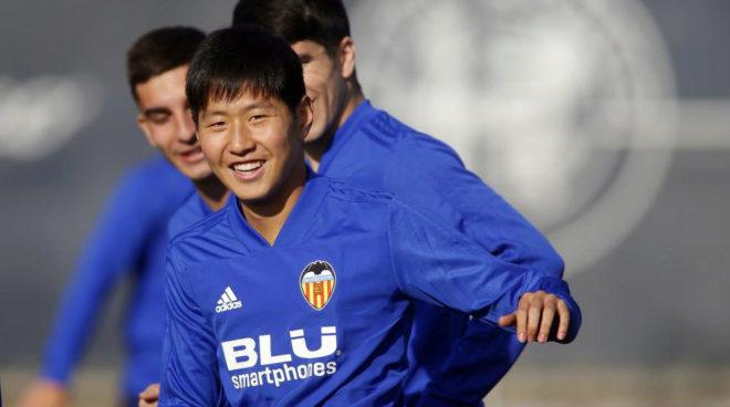 Kangin Lee during training on Tuesday.