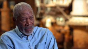 Morgan Freeman, durante una entrevista
