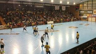 Un momento del partido entre el Ciudad Encantada y el Bidasoa