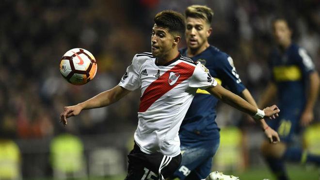 Palacios, durante la final de Libertadores en el Bernabéu