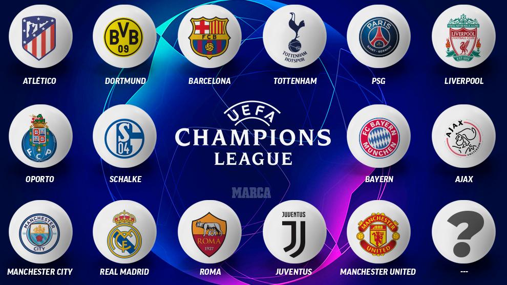 Los 15 equipos clasificados para Octavos de Champions