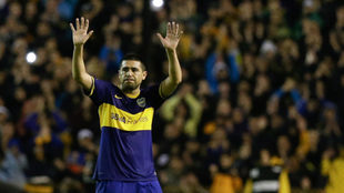 Riquelme en un partido de Boca Juniors