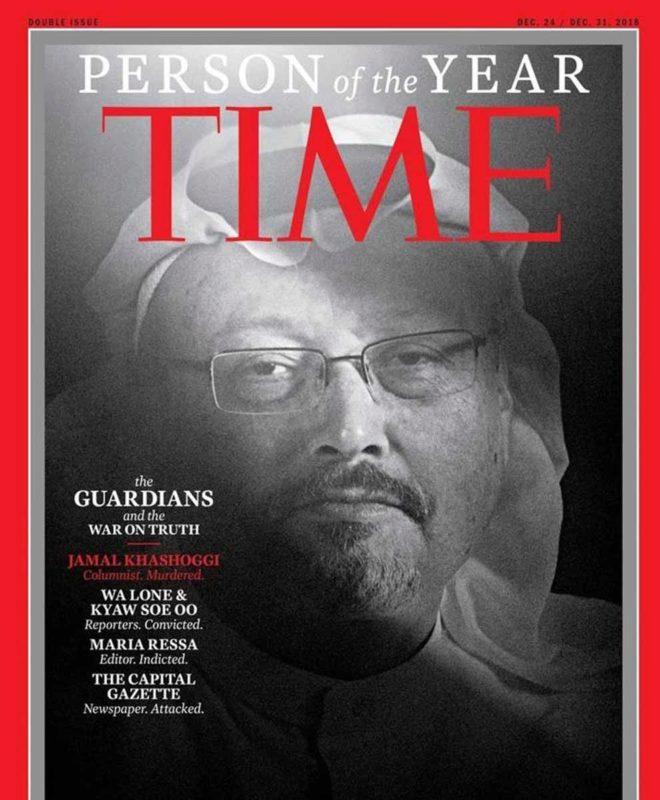 Jamal Khashoggi es nombrado Persona del Año 2018 por la revista Time