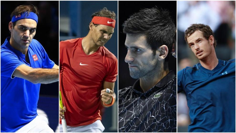 Federer, Nadal, Djokovic y Murray