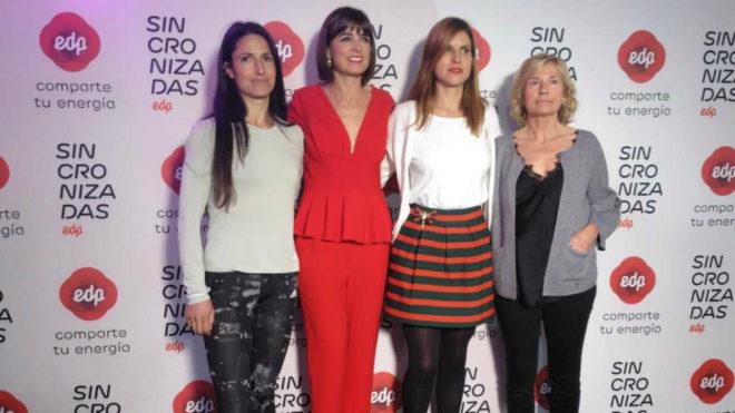 De izquierda a derecha, Elena Loyo, Cristina Mitre, Lorena Fanjul y...