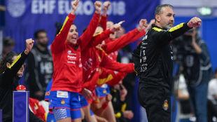 Carlos Viver, durante el partido frente a Noruega /