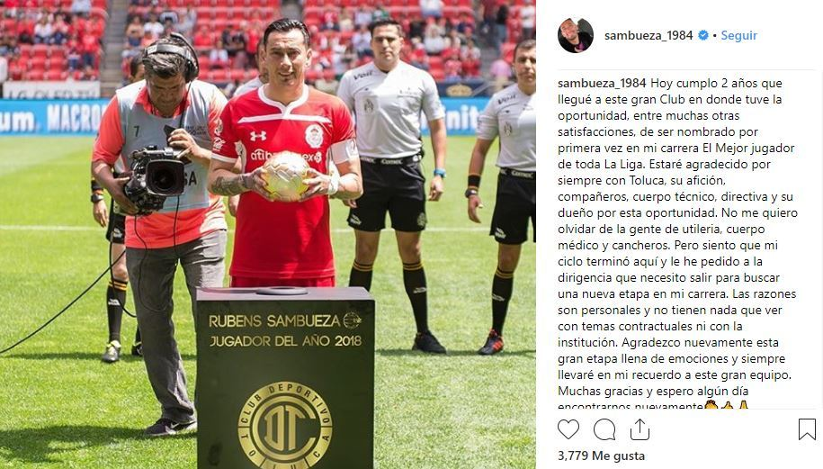 Liga MX Definido el próximo destino de Rubens Sambueza