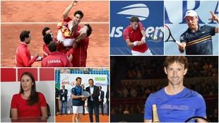 Los protagonistas de la fiesta del tenis español