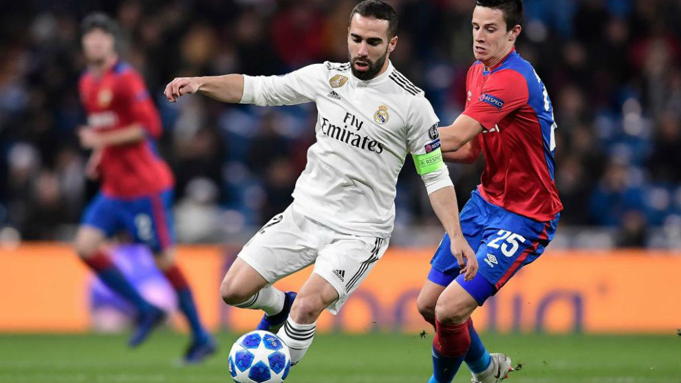 Carvajal during the game against CSKA Moscow.
