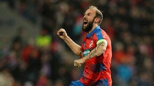 Tomás Chory anotó el gol del triunfo del Viktoria Plzen