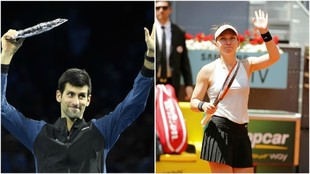 Djokovic y Halep, los mejores de 2018