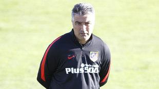 Víctor Afonso durante su etapa en el Atlético de Madrid.