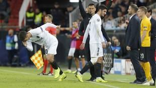 Ferran entra por Guedes en el partido de Champions ante el Young Boys.