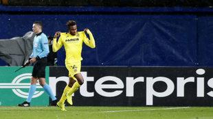 Chukweze celebra su gol.