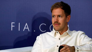 Vettel, en la reciente entrega de premios de la FIA.