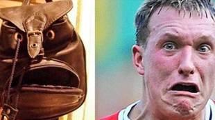 Un meme de B/R Football destacando las botas murciélago de Michy...
