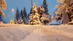 La nieve ha sido generosa en Baqueira Beret con más de 30 cm...