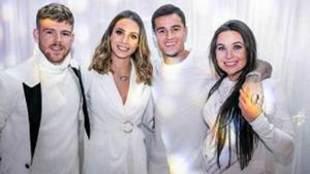 Alberto Moreno y Coutinho en la fiesta de cumpleaños de Larissa...