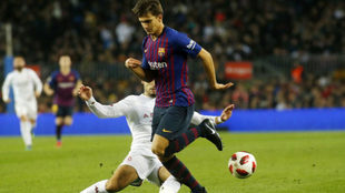 Denis Suarez in a Copa del Rey match for Barcelona.