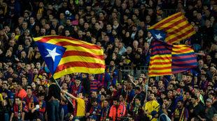 Barca's 'ultras'.