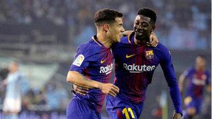 Coutinho and Dembélé.