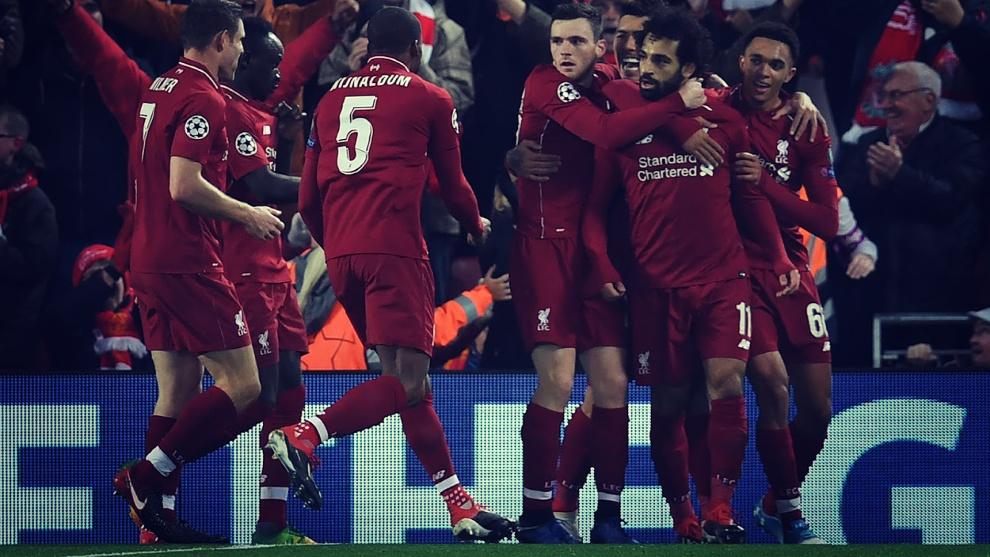 Salah ya es el máximo goleador de la Premier League con diez goles en...