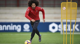 Aridane en el entrrenamiento de Osasuna en las instalaciones de...