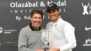 José María Olazabal y Rafa Nadal a la conclusión del torneo que...