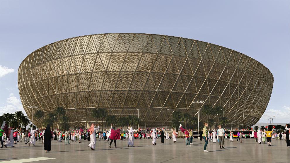 Maqueta del estadio Lusail.