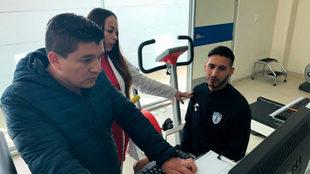 Ismael Sosa en las instalaciones del Pachuca.