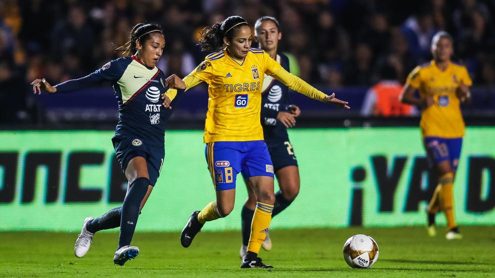 b56e3dccb4447 Fútbol Femenil  Tigres vs América  resumen