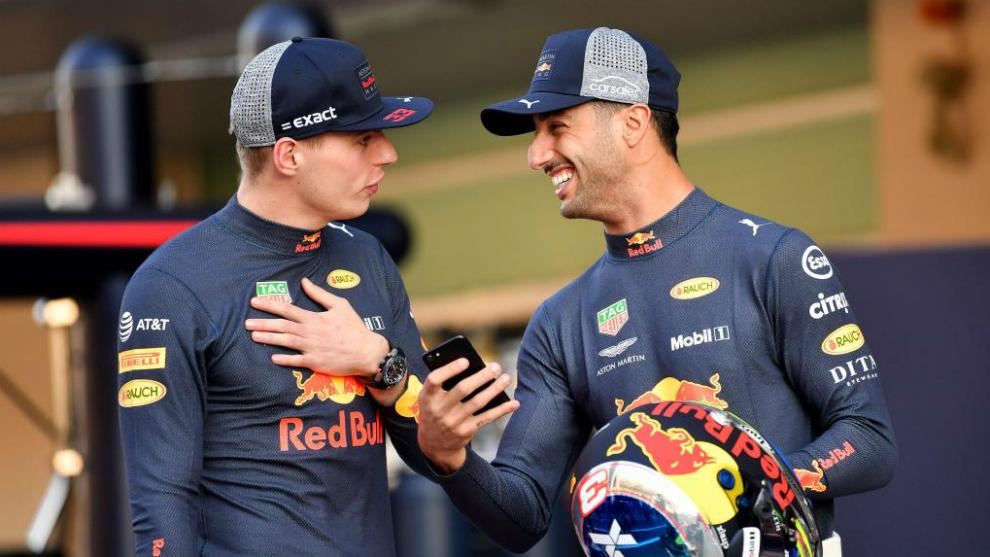 Max Verstappen y Daniel Ricciardo