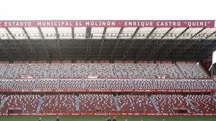 Imagen del estadio del Sporting de Gijón.
