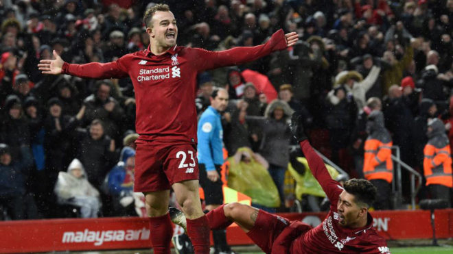Liverpool vs M. United Shaqiri destroza al United en 10 minutos y mantiene  al Liverpool en la cima - Premier League: