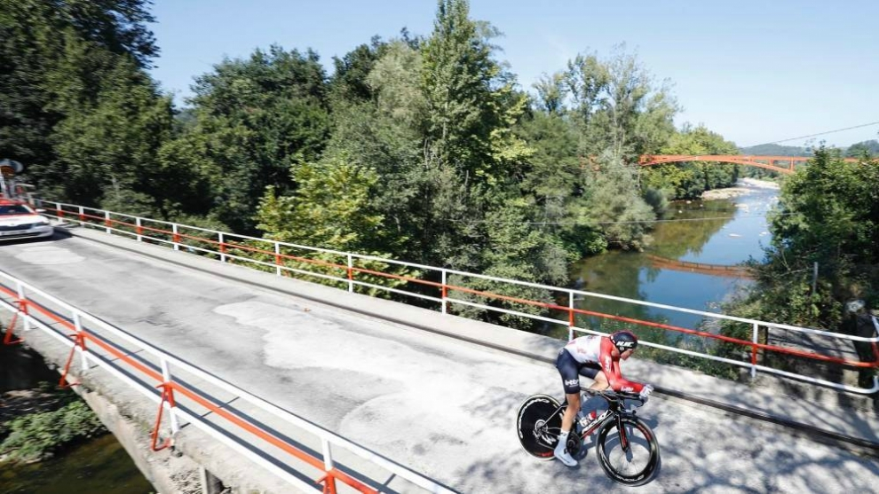 Sander Armée en la crono de la 16ª etapa de la Vuelta a España.