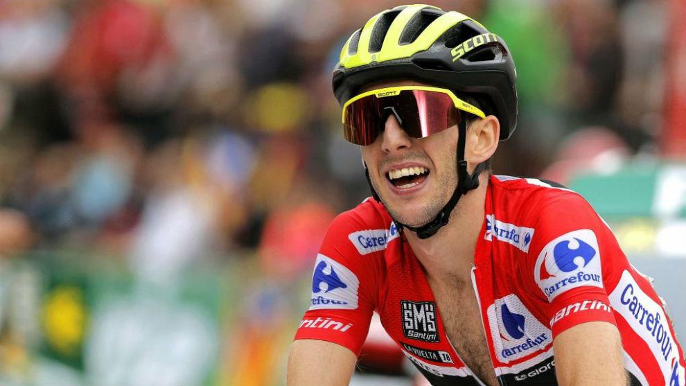 Simon Yates durante una etapa de la Vuelta Ciclista a España.