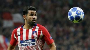 Costa, en un partido de Champions.