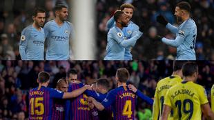 El Manchester City y el Barcelona son los dos equipos favoritos para...