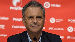 Joaquín Caparrós, en una rueda de prensa reciente.