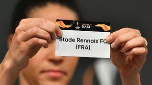 Cartel del Stade Rennais en el sorteo