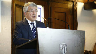 Enrique Cerezo, durante su discurso de Navidad.
