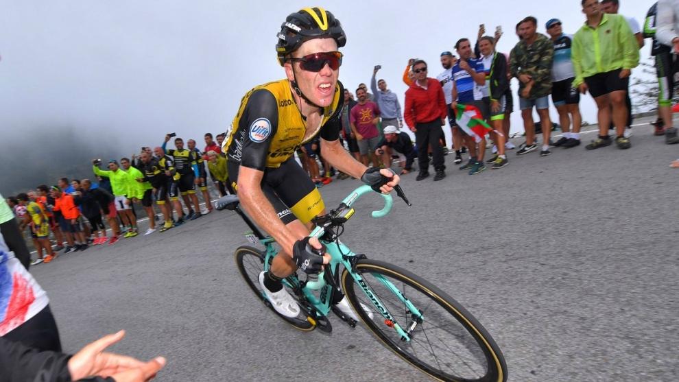 Steven Kruijswijk, en la Vuelta a España 2018.