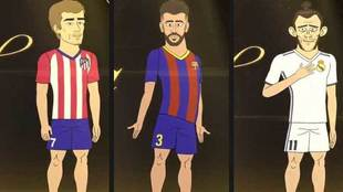 Griezmann , Piqué y Bale en el reality animado 'The...
