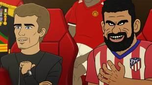 Griezmann y Diego Costa en el reality animado 'The...