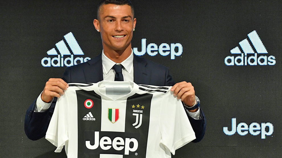 Cristiano Ronaldo, el día de su presentación con la Juve