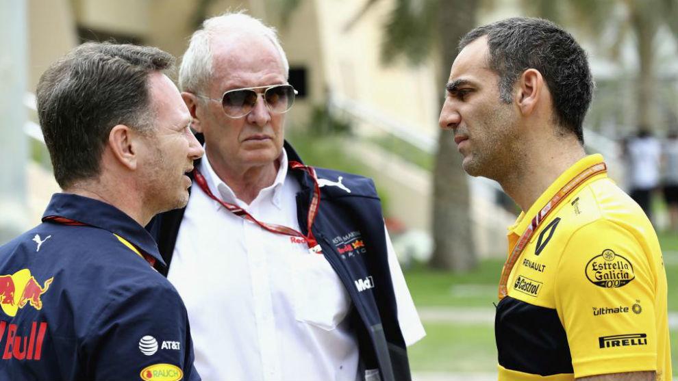 Horner, Marko y Abiteboul.