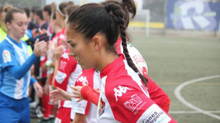 Nayadet López, jugadora del Santa Teresa, en la previa de un partido.