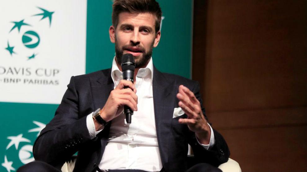 Piqué, en el acto de presentación de la Copa Davis en Madrid