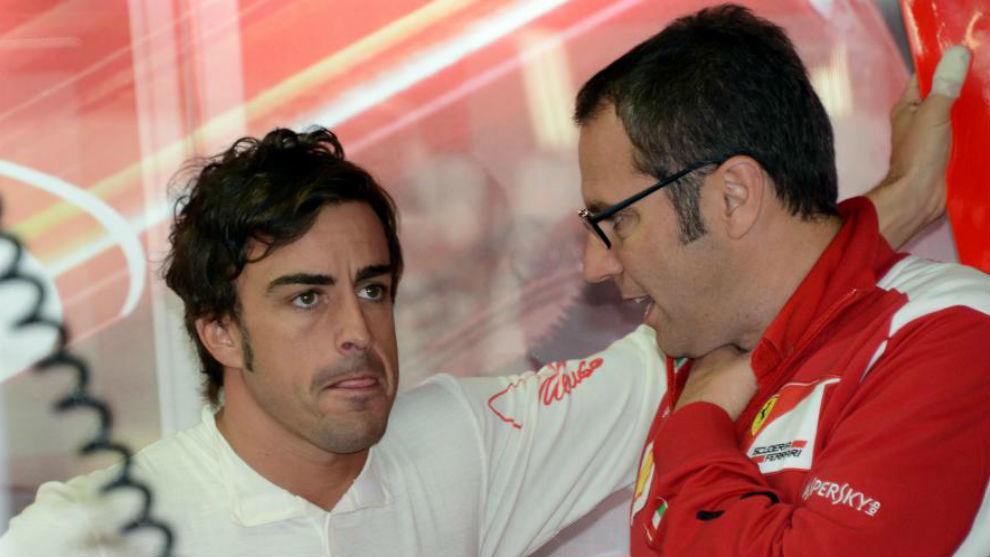 Domenicali y Alonso, en una imagen de 2014