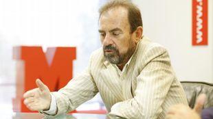 Ángel Torres, presidente del Getafe durante una visita a MARCA
